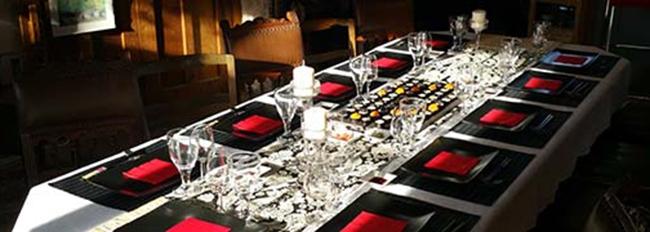 Table mise pour un repas japonais découverte