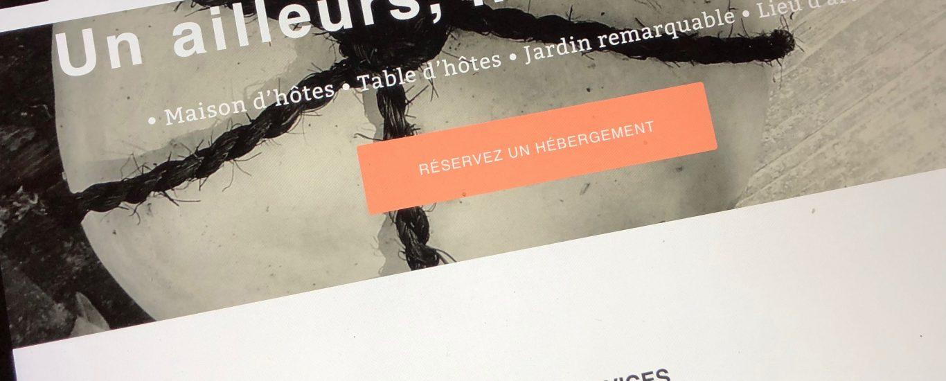 Photo d'écran avec l'affichage du nouveau site de L'Escalier